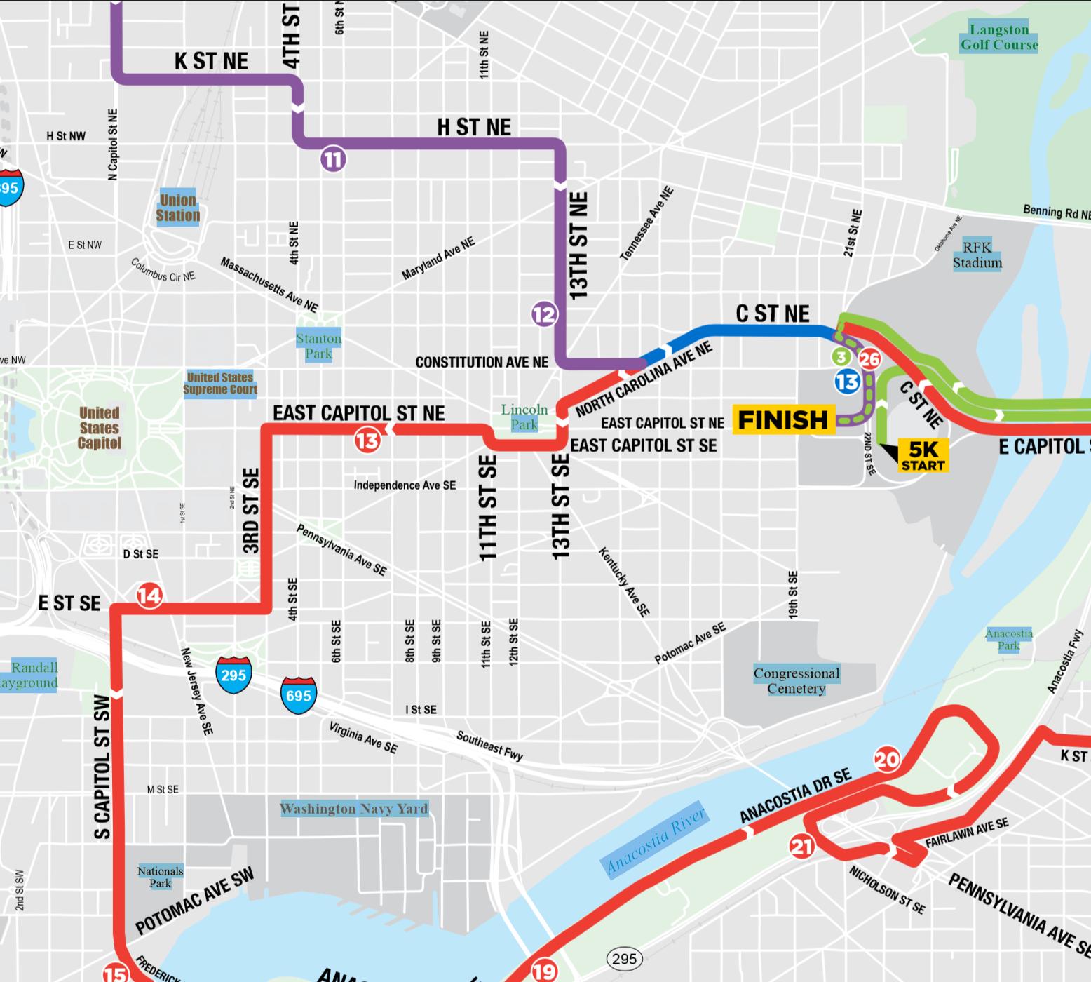 Se Dc Map.Anc 6c Rnr Marathon Map Detail Midcity Dc News